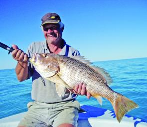 The gulf waters around Karumba are home to many fingermark this size and bigger.